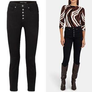 Veronica Beard Debbie High Waisted Skinny Jeans